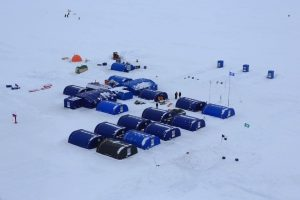 camp polaire Barneo - marathon du Pôle Nord