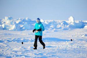Frédérique vainqueur au Pôle Sud et au Pôle Nord !