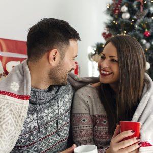 Couple à Noël